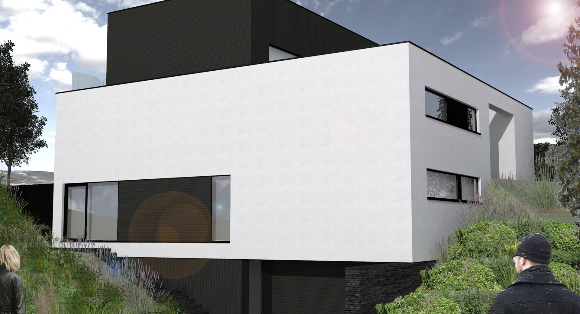 Habitation toit plat en Brabant wallon